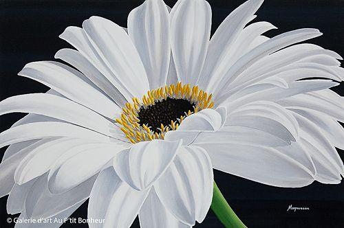 Dennis Magnusson, 'White Splendor', 24'' x 36'' | Galerie d'art - Au P'tit Bonheur - Art Gallery