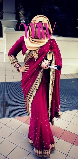 hijab sari wedding hijabi-fying a sari mangowhirl modest fashion