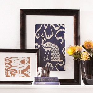 Great Idea! Frame Fabrics: Frame small sections of bold-hued fabrics incorporate busy and fun patterns.