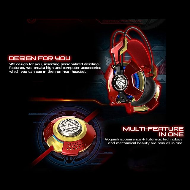 E-BLUE MARVEL IRON MAN 3 Edition Gaming Headset