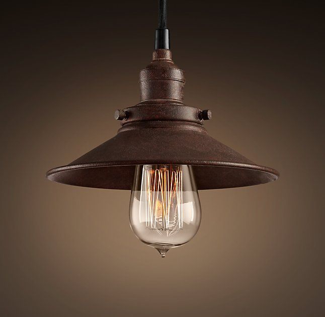 Factory Filament Metal Single Pendant:Evoking Industrial Lighting, Our  Reproductions Of Vintage Fixtures Retain The Classic Lines And Exposed  Hardware Of ...
