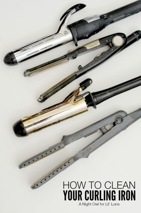 How to Clean Your Curling Iron - SO need to do this! { lilluna.com }