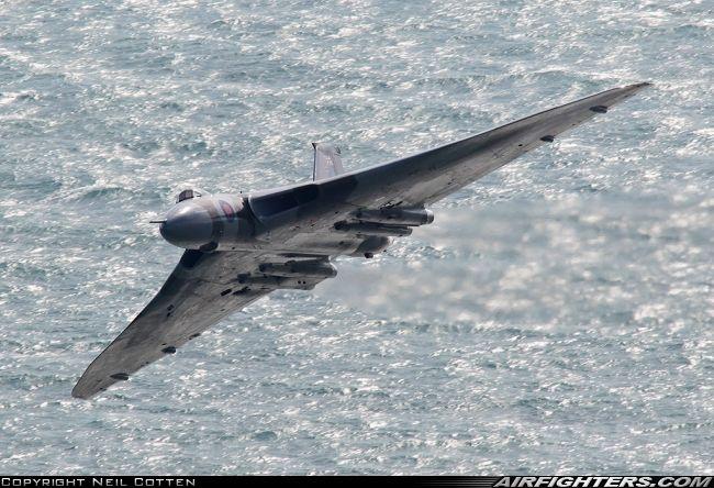 Vulcan to the Sky Trust Avro 698 Vulcan B2, G-VLCN / XH558 (cn SET12). Off-Airport - Eastbourne - UK. August 11, 2012.