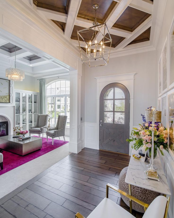 I Love The Beautiful Entry Ceiling And Wood Floors One Of Our Favorite Homes To Date By