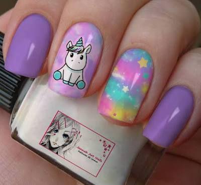 unhas tumblr unicornio - Pesquisa Google