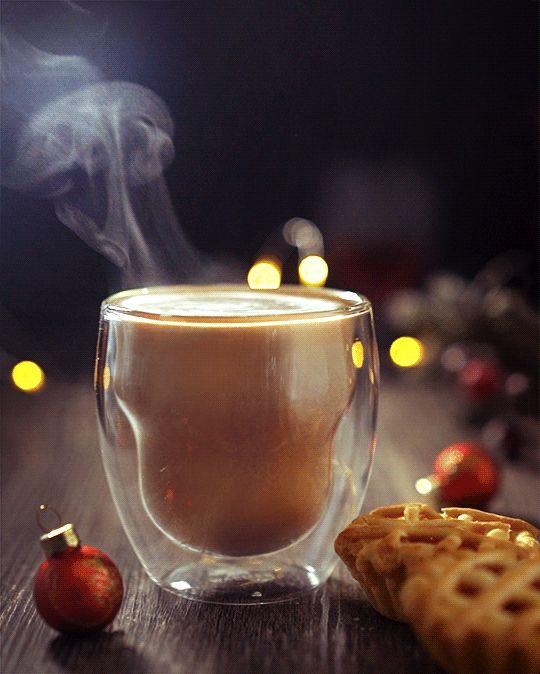 Анимация горячего кофе