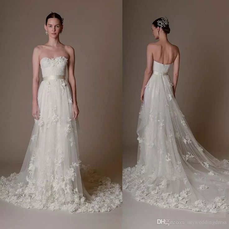 3d Floral Applique Marchesa Bridal Wedding Party Dresses 2017 Elegant Sweetheart Long Sweep Train Plus Size Country Backless Wedding Dresses Designer Gown Discount Bridal Gowns From Myweddingdress, $203.37| Dhgate.Com