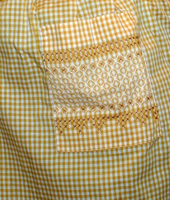 Chicken Scratch Apron. OMG I did this all the time years ago, when my girls were little, on their jumpers with matching bloomers. A nice memory. :)