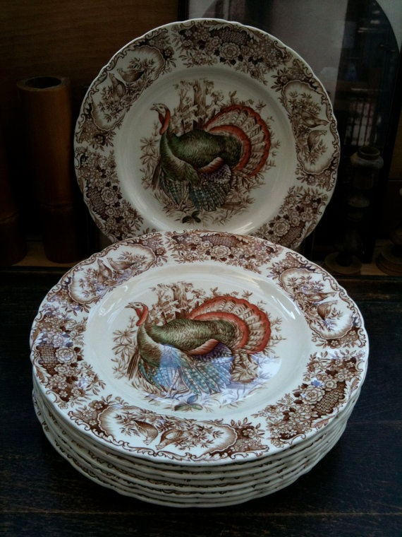 My dinnerware pattern Wild Turkey Johnson Bros. England & 14 best Dinnerware images on Pinterest | Johnson bros Turkey plates ...