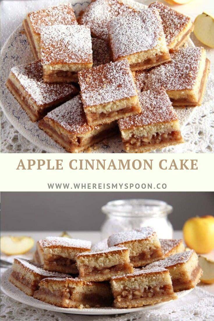 Moist Apple And Cinnamon Cake Tray Bake Recipe Apple Cinnamon Cake Tray Bakes Apple Dessert Recipes