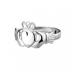 Solvar Sterling Silver Baby Strand Claddagh Ring