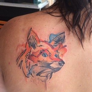 Or go for a sketched out fox. | 32 Cool And Colorful Tattoos That Will Inspire You To Get Inked