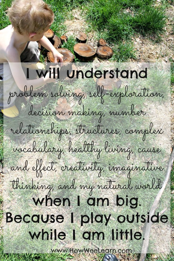 Gorgeous photos with beautiful quotes on nature, how we learn, and the importance of play!  A compilation of lovely word art and inspiring quotes that grows each week!  www.HowWeeLearn.com