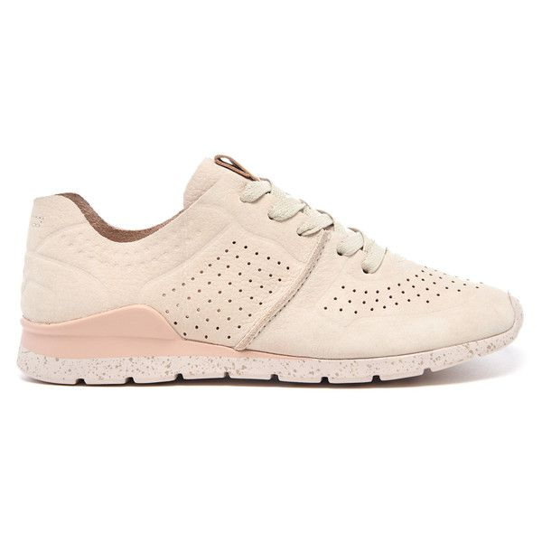UGG Women's Tye Treadlite Nubuck Trainers (€135) ❤ liked on Polyvore featuring shoes, sneakers, cream, round toe sneakers, ugg sneakers, ugg, lace up shoes and cream shoes