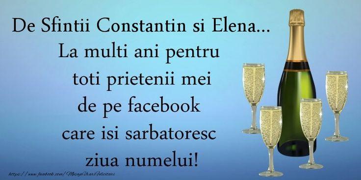 De Sfintii Constantin si Elena ... La multi ani pentru toti prietenii mei de pe facebook care isi sarbatoresc ziua numelui!