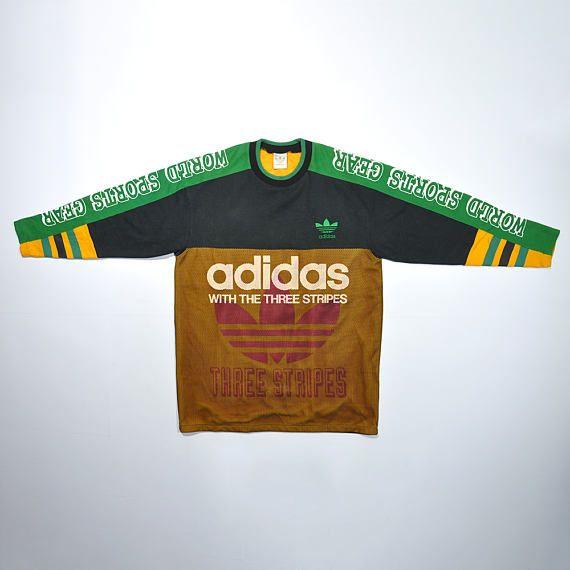 Vintage 80s 90s ADIDAS Cewneck Sweatshirt ADIDAS Big Logo