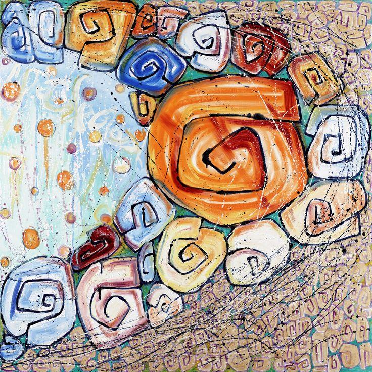 "Salome Hidalgo, ""Tryptyk Gitanas VIII"", year: 2009, 95 cm x 95 cm, III"
