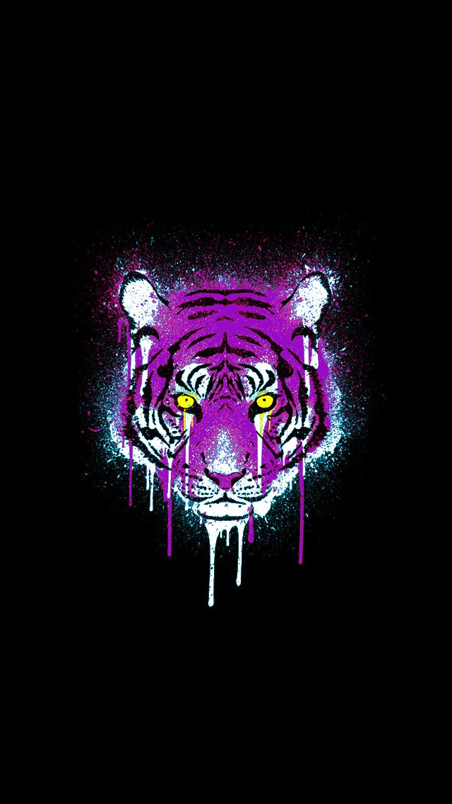 Purple And Gold Tiger Find This Pin More On Epic Phone Wallpaper