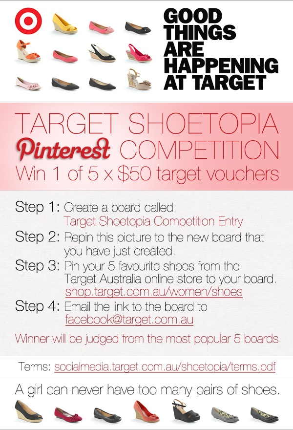 Target competition entry details!