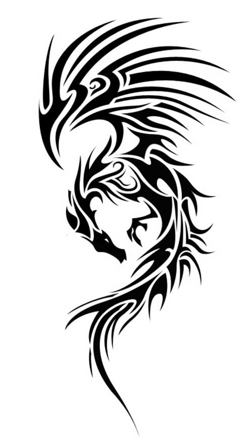 best 10 tribal dragon tattoos ideas on pinterest dragon design dragon tattoo designs and. Black Bedroom Furniture Sets. Home Design Ideas