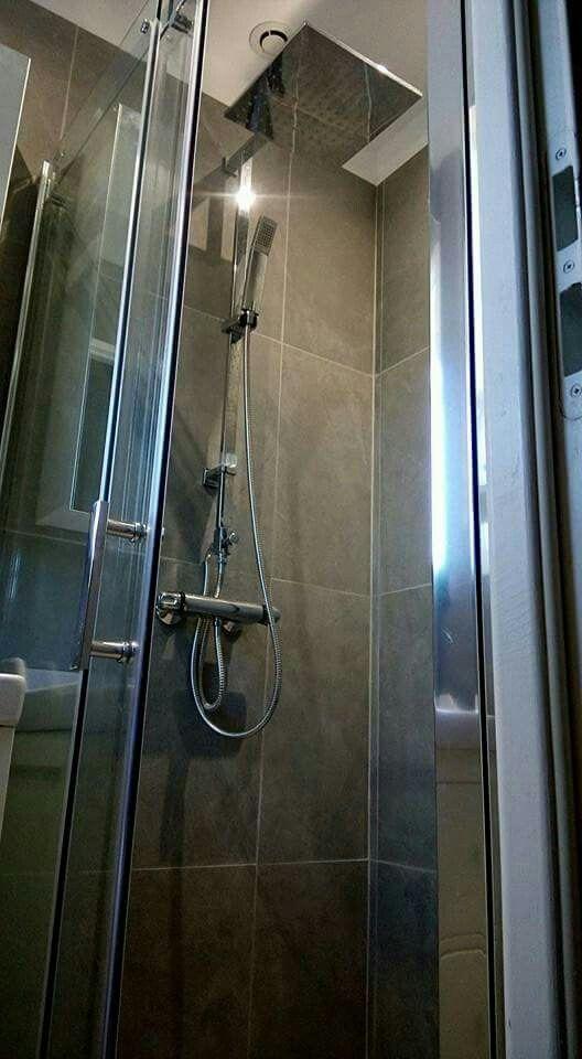 25 best Mes réalisations clientèle images on Pinterest Bathroom - Salle De Bain Moderne Grise