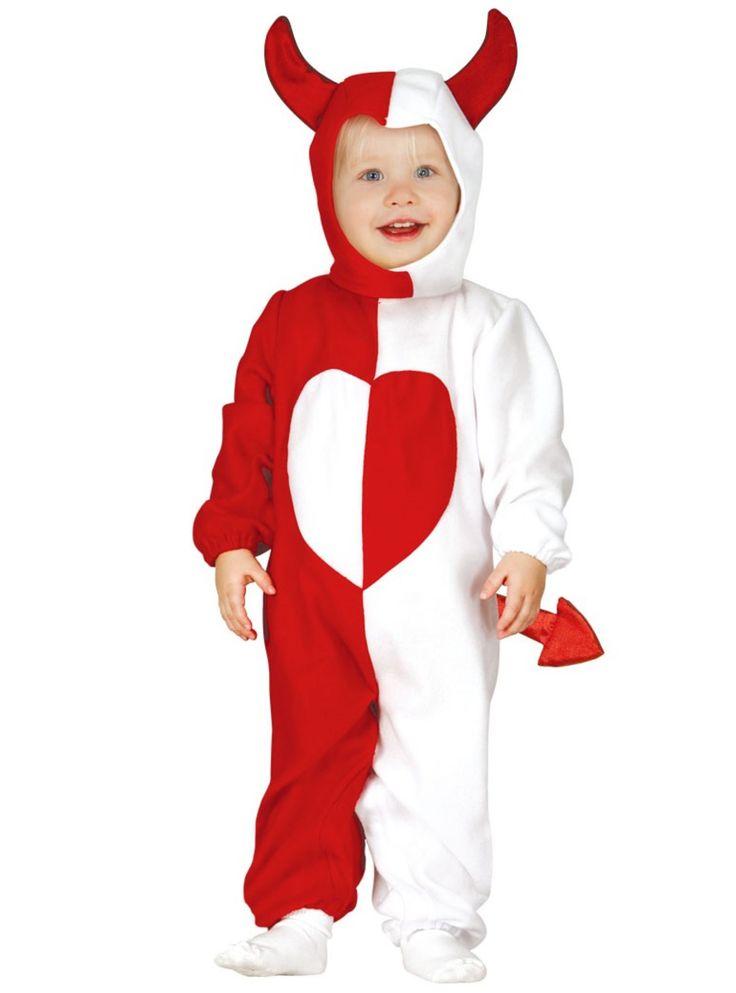 Engel en demoon kostuum voor baby