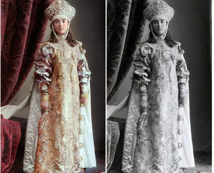 Бал-маскарад в Зимнем дворце. 1903 год. Раскрашенные фотографии Елизавета Оболенская