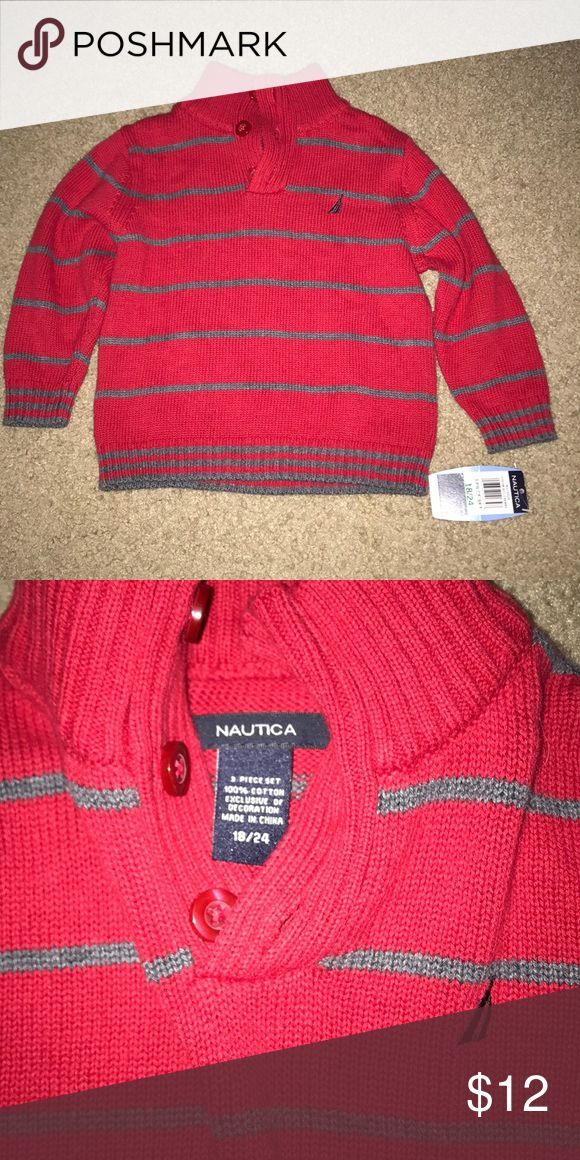Nautical cardigan NWT!! Toddler size 18/24 month Nautica cardigan. Bought as a  three piece but this was never worn and still has tags. Nautica Shirts & Tops Sweaters