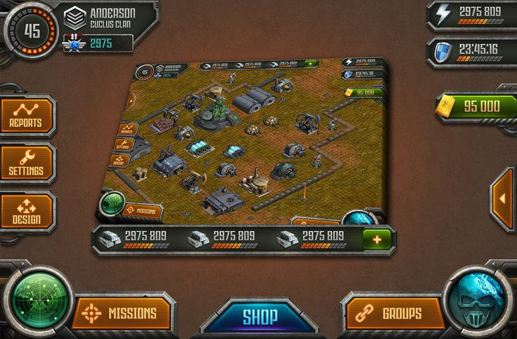 Ipad military game uiser interface