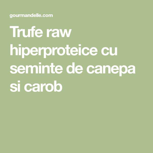 Trufe raw hiperproteice cu seminte de canepa si carob