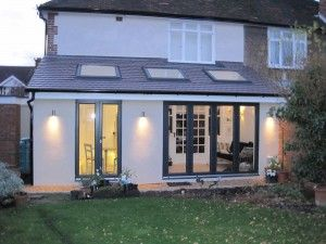 Rear extension with sky lights