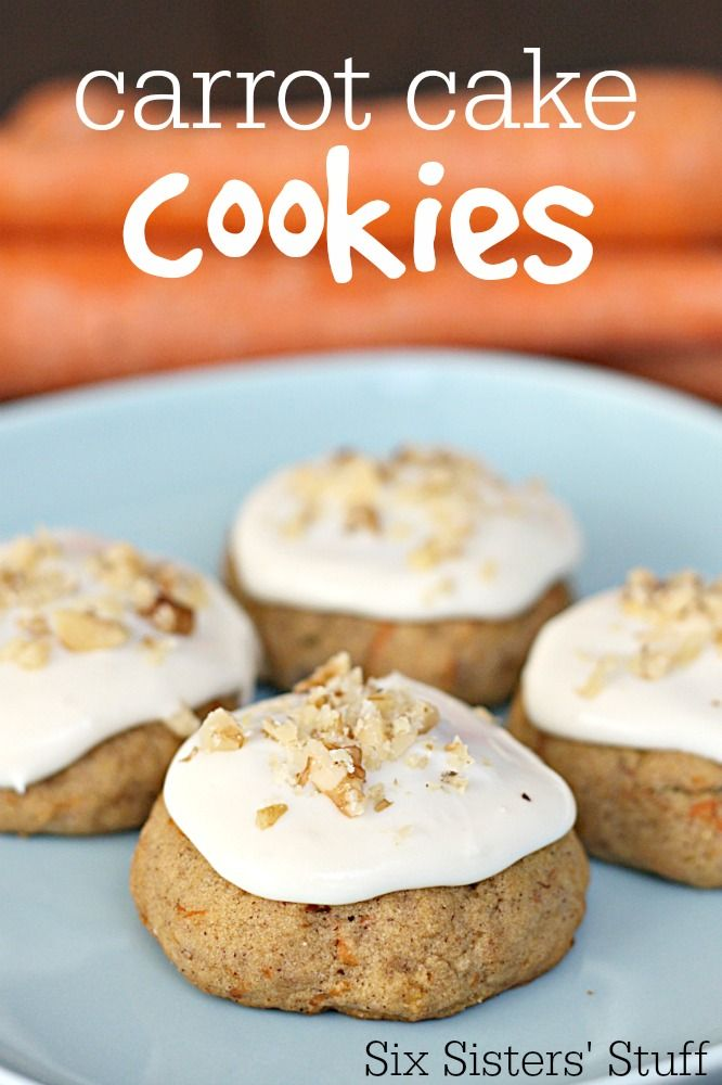 Frosted Carrot Cake Cookies Recipe @FoodBlogs