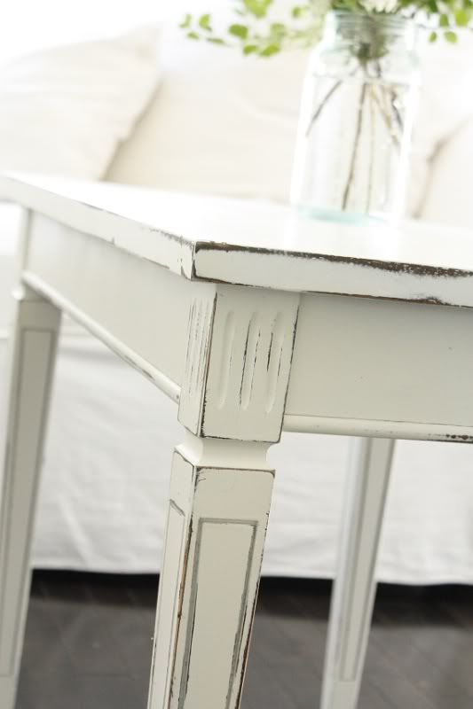 18 best images about distressed white furniture on for Distressed white dining table