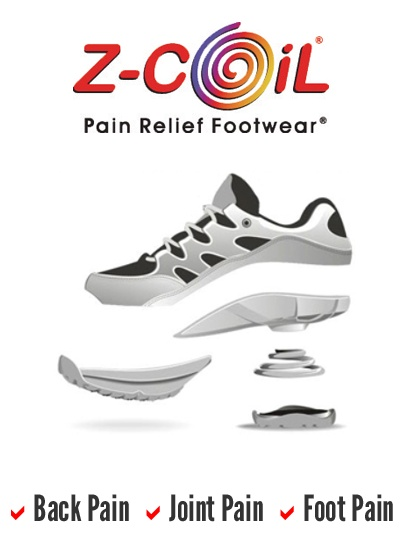 Z-CoiL® Pain Relief Footwear® 12 hours a piece of cake in these!