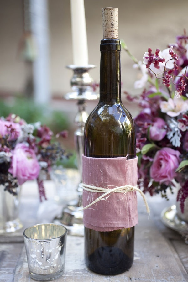 wrap bottles of wine for parties or put other beverages in them.