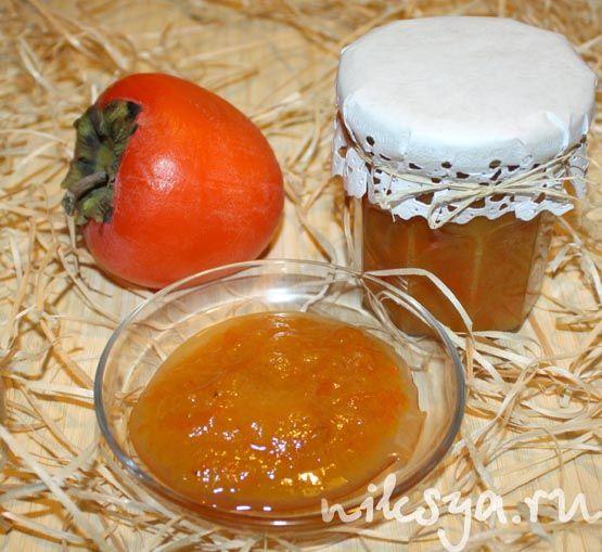 Варенье из хурмы и апельсина