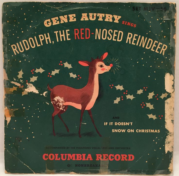 "Gene Autry Sings Rudolph the Red-Nosed Reindeer and If It Doesn't Snow on Christmas 1949 Columbia Records 10"" 78 RPM SET MJV-56 by JackiesVintageFinds on Etsy"