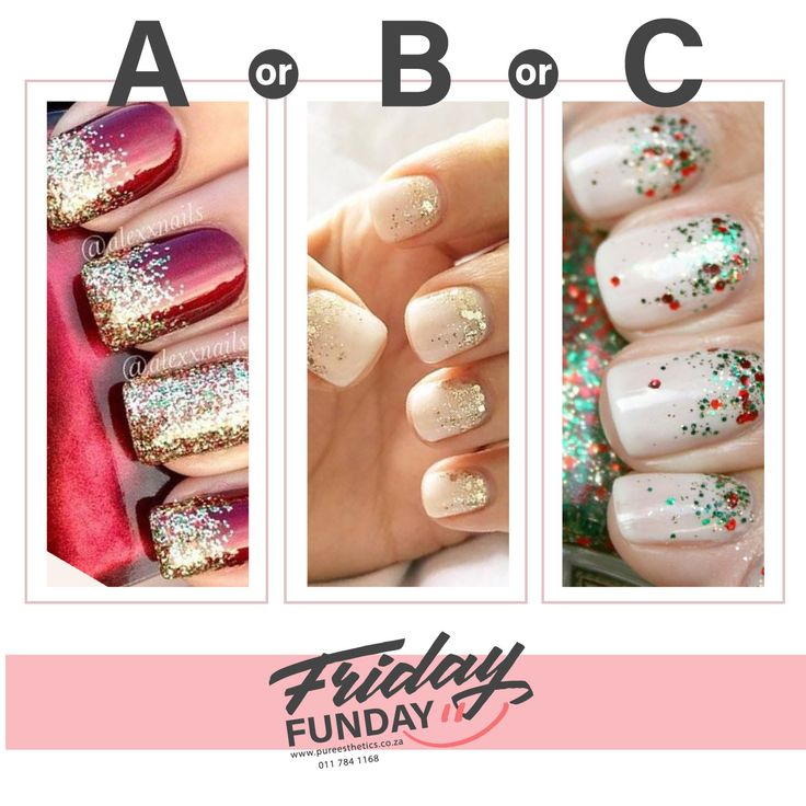 Which Christmas Manicure do you like? A B or C Contact Us for more information or to book your appointment! T: 011 784 1168 E: info@pureesthetics.co.za 117 Virginia Avenue, Parkmore, Sandton #PureEsthetics