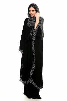 Colored Abaya Collection 2014/2015 | Arzu Ergen Black Abaya Designs | Designer, Casual Abaya & Hijab - Fashion Hunt World | Fashion That Makes You Different