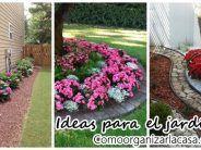 Jardines frontales con flores