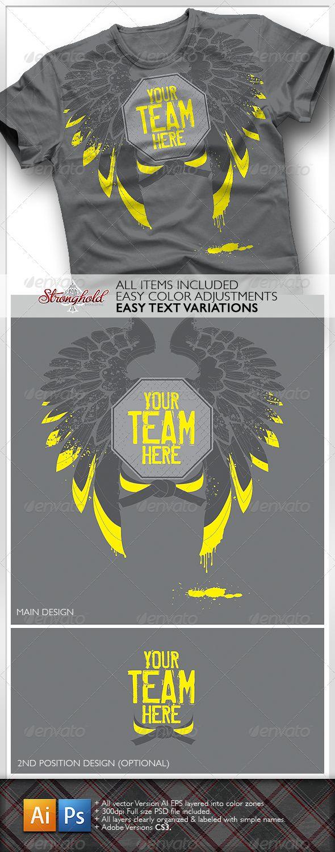 Shirt design template size - Fight Team T Shirt