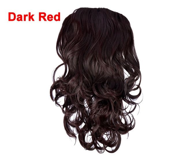 "Women's Long 24"" Half Head 1/2 Head Body Wavy Clip Reversible Hair Extensions"