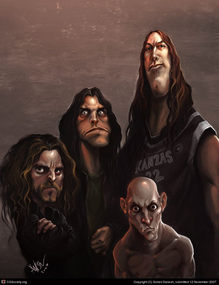 353 Best Images About Caricatures Rock Bands On