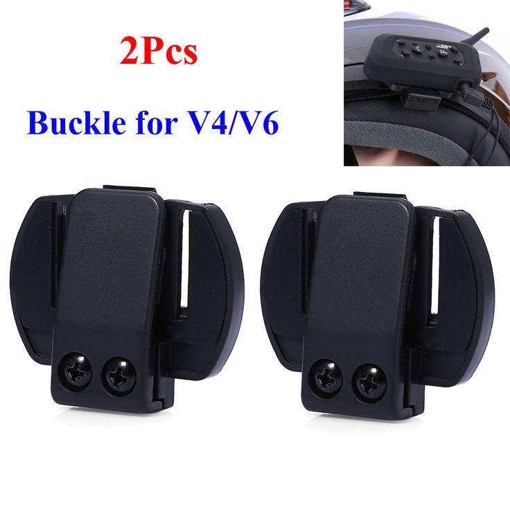 Helmet Intercom V6 Bracket Clip Motorcycle Headset V4 Bluetooth Motorbike Mount #HelmetIntercom