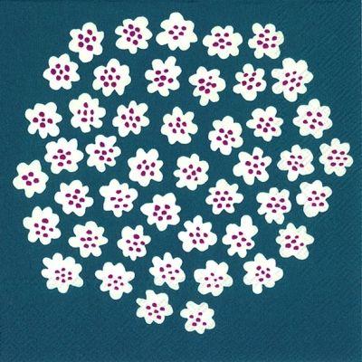【楽天市場】marimekko マリメッコ 可愛い 4つ折りペーパーナプキン☆PUKETTI blue☆(20枚入り):Pippy 楽天市場店