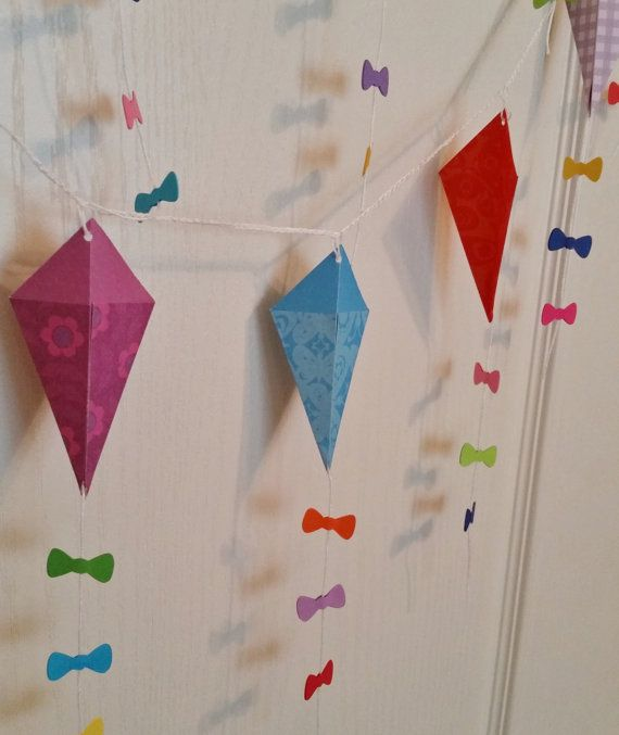 Kite Garland Mary Poppins Birthday Baby Shower by HandyGrams