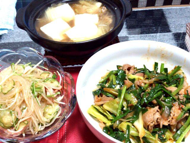 春雨サラダが大量に食べたくなりまして、、、 - 1件のもぐもぐ - 春雨サラダ、豚にら中華炒め! by manma9040