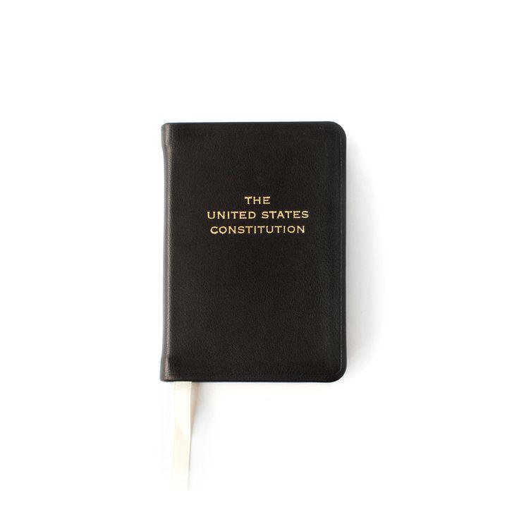 Leather Bound Pocket Constitution, Black