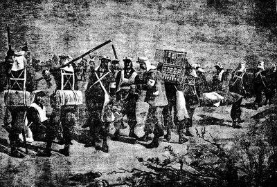 Sanidad militar en los campos de batalla, durante la guerra del Pacífico.