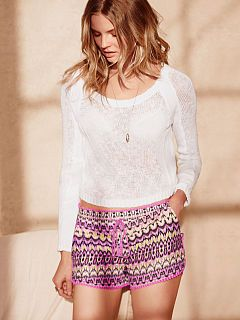 Crewneck Sweater and tribal shorts
